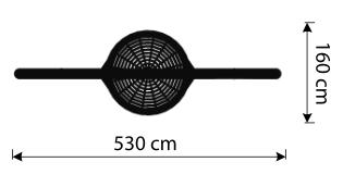 Zecihnung-Bogenschaukel